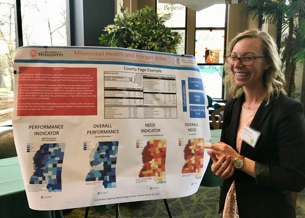Sociology students present at Universities Fighting World Hunger Summit